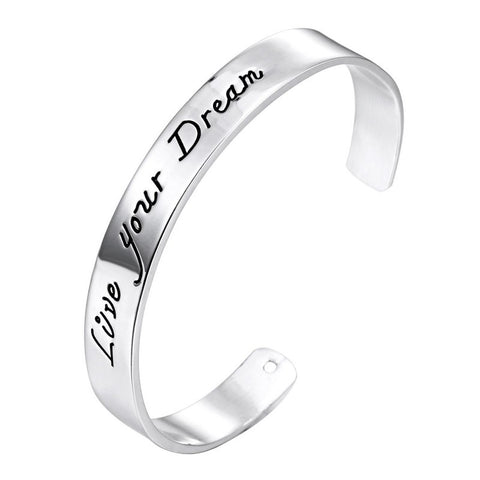 Live Your Dream Bracelet - Great Secret Santa or White Elephant Christmas