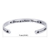 Image of Stainless Steel Bracelet - Cuff Bracelet - Home is Where Mom is