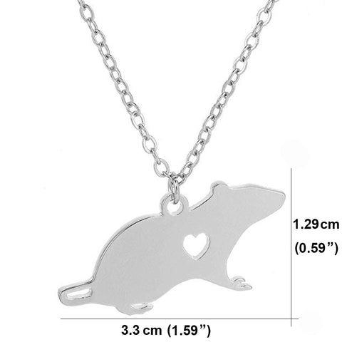 Rat Pendant Necklace - Chinese Horoscope Gift - Zodiac Necklace