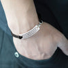 "Image of ""You are Braver than you believe"" Pendant Bracelet"