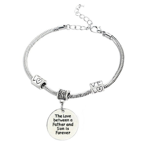 The Love between a Father and Son is Forever Bracelet