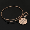 Image of Bangle Bracelet Engraved She Believed she Could so she did Inspirational Jewelry