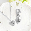 Image of Love my Dog Owner Necklace & Keychain Set Paw Print Jewelry