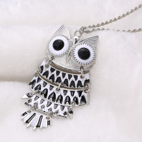 Women Vintage Owl Pendant Necklace - Fashion Jewelry - 29.9''