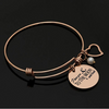 Image of I Love You to The Moon & Back - Adjustable Bangle Bracelet - Rose Gold Color