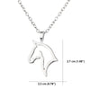 Image of Horse Pendant Necklace - Animal Lovers Gift