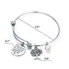 Bangle Bracelet Engraved Sister to sister we will always be a couple of nuts off the family tree