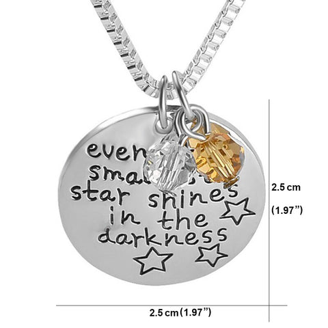 Even The Smallest Star Shines in The Darkness - Pendant Necklace