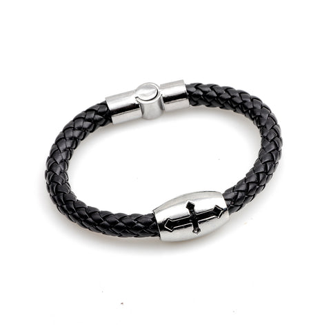 Black Cross Bracelet - Christian Jewelry for Men and Women