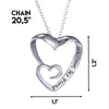 Image of My Sister, My Friend - Heart Pendant Necklace