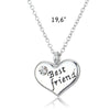 Image of Best Friend Heart Pendant Necklace