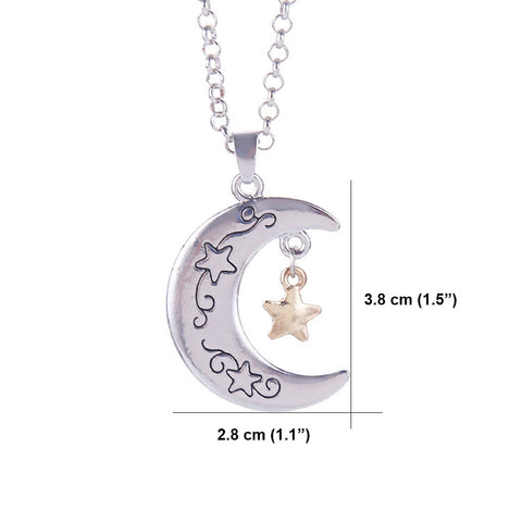 I Love You to The Moon and Back - Crescent Moon Pendant Necklace