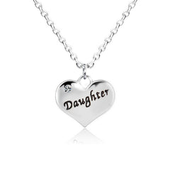 Daughter Heart Pendant Necklace