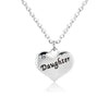 Image of Daughter Heart Pendant Necklace - Mother Daughter Necklace