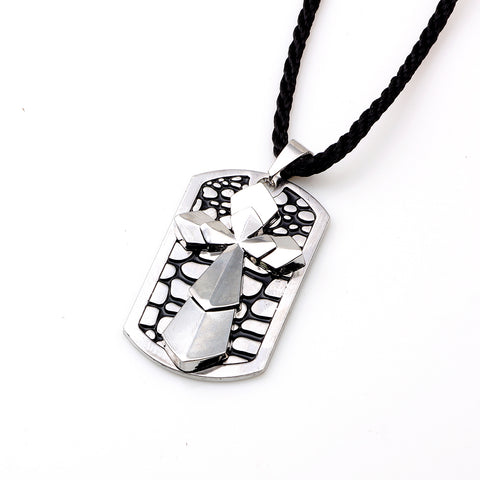 Luvalti Cross and Silver Pendant Necklace - Christian Jewelry for Men and Women