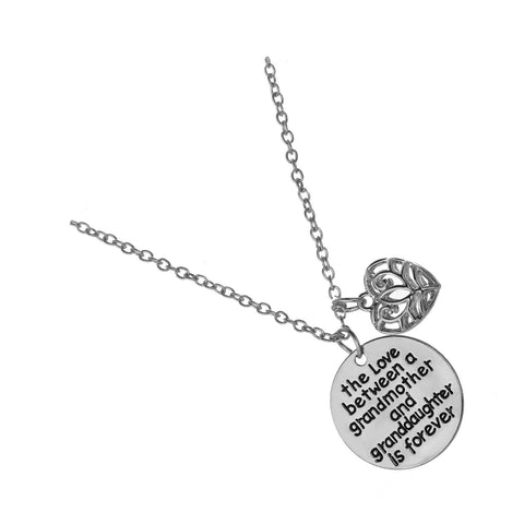 Love between a Grandmother and Granddaughter is Forever Necklace
