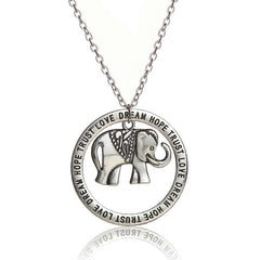 Elephant Pendant Necklace by Luvalti - Love, Dream, Hope, Trust Necklace - Mother Jewelry