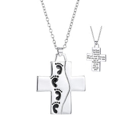 Cross Pendant Necklace - Reversible  Christian Jewelry for Men and Women