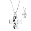 Image of Cross Pendant Necklace - Reversible  Christian Jewelry for Men and Women