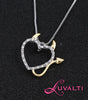 Image of Devil Heart Pendant Necklace