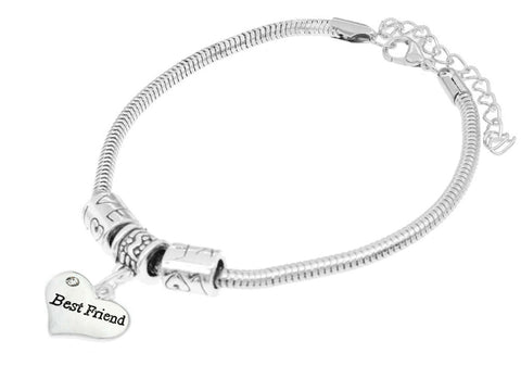 Best Friend Heart Charm Bracelet