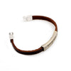 Image of God Bless Cross Leather Bracelet - Christian Jewelry for Men and Women