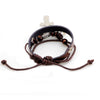 Image of Double Cross Leather Bracelet - Christian Jewelry for Men and Women