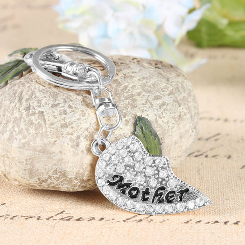 Mother & Daughter Heart Set of 2 Keychains