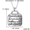 Image of Grandmother A wonderful mother with Lots of practice - Family Pendant Necklace