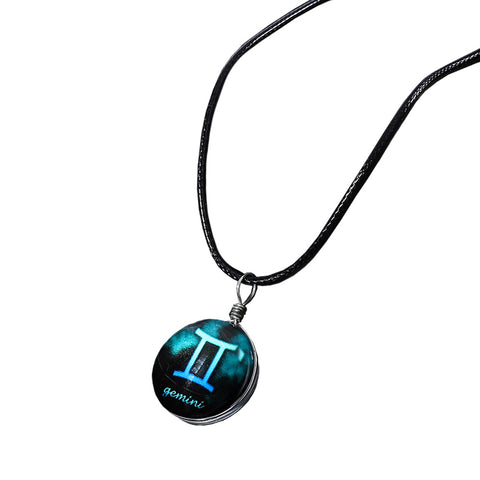 Gemini Pendant Necklace - Zodiac Necklace - Jewelry Gift for Women