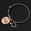 Image of Luvalti Charm Bracelet I Love You to The Moon & Back Adjustable Bangle Gift for Women Girl Sister Mother Friends Womens Rose Gold