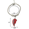 Image of Mother Half Red Heart Pendant Bracelet