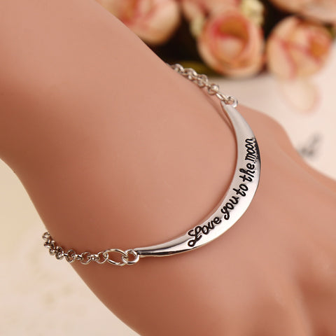 Love You to The Moon - Pendant Bracelet