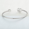 Image of Heartbeat Bangle Bracelet - Stainless Steel, Adjustable - Great Gift Idea for Nurses