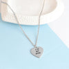 Image of Love my Dog/Owner Necklace & Keychain Set Paw Print Jewelry