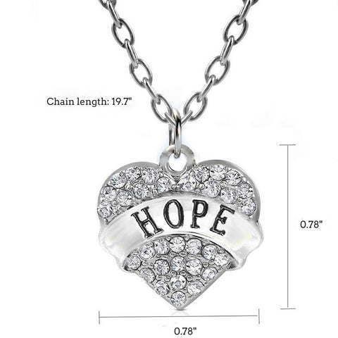 """Hope"" Charm Pendant Necklace"
