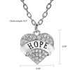 "Image of ""Hope"" Charm Pendant Necklace"
