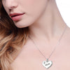 "Image of ""Mom"" Heart Pendant Necklace"