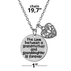 Copy of Love between a Grandmother and Granddaughter is Forever Necklace