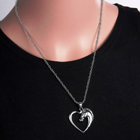 Horse Heart Pendant Necklace - Perfect Custom Jewelry Gift For Horse Lovers