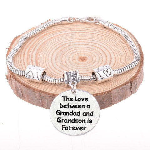 The Love Between a Grandad and Grandson is Forever Bracelet