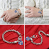 Image of Nurse Blue Heart Charm Bracelet