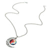 Image of Galaxy & Crescent Cosmic Colorful Moon Pendant Necklace