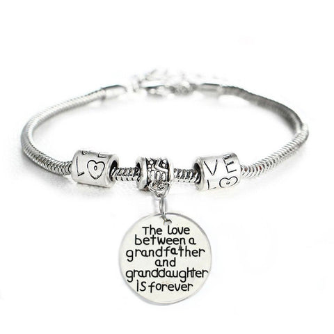 Love Between Grandfather and Granddaughter is Forever Bracelet