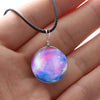 Image of Galaxy & Cosmic Pink Glass Pendant Necklace