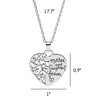 Image of Mother And Daughter Forever Heart Pendant Necklace