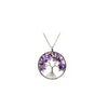 Image of Luvalti Tree of life - Gemstone Chakra Jewelry Purple Silver Chain Necklace