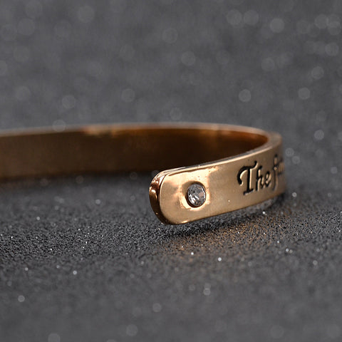The Future Belongs to Those Who Believe in The Beauty of Their Dreams - Pendant Cuff Bracelet
