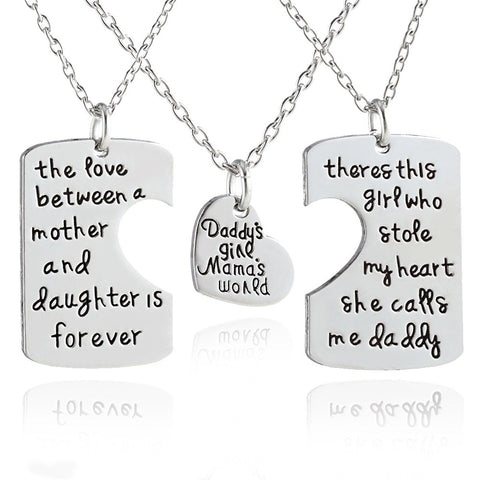 """Daddy's Girl Mama's World"" Necklace"