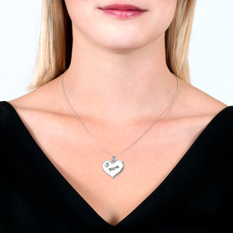 Mom Heart Pendant Necklace